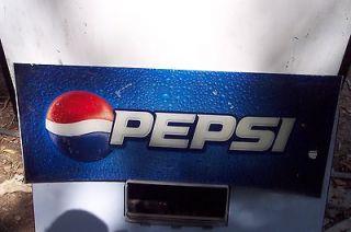 PEPSI COLA SODA MACHINE TRANSLUCENT DISPLAY SIGN   NICE CONDITION