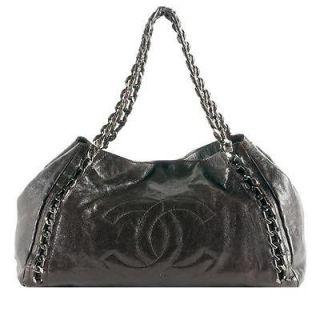 Chanel CC logo Caviar Leather Modern Chain Large Tote SHW