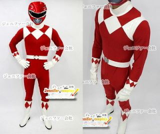 Power Red Ranger Cosplay Costume Rangers Any Size