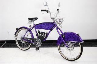 Cheetos Chester Cheetah Motorcycle Bike chopper cruiser bicycle purple