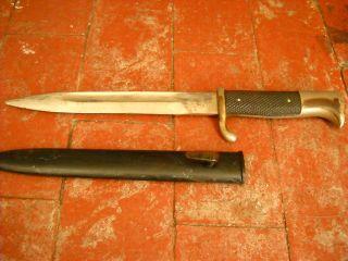 WWII Solingen Knife w/Metal Scabbard