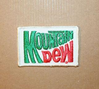 Wholesale Lot Of 10 Mountain Dew Logo Soda Pop Applique Patch Vintage