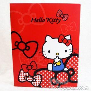 Sanrio Hello Kitty 20 Pocket Binder School Supply Red Bow
