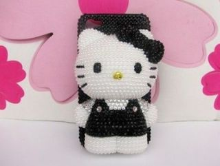 Bling Black Hello Kitty BOW for cell Phone iPhone4 4s Case Cover HOT
