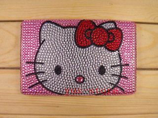 Pink Hello Kitty crystal hard back cover case for  Kindle Fire