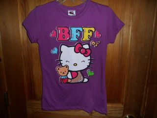 HELLO KITTY girls SHIRT M10/12 L14 short sleeve top BFF