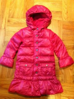 Parka Coat Down Fill Jacket NEW Baby/Toddler Girl Pink Hibiscus