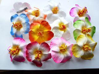 10 assorted Foam Hawaiian flowers Hibiscus Flowers wedding bridal