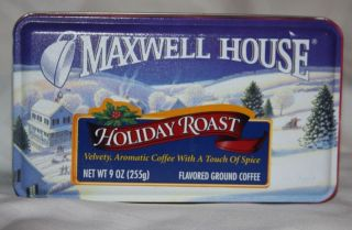 Maxwell House Coffee Holiday Roast Christmas tin