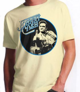 JOHNNY CASH / HANK WILLIAMS T Shirt Beige S M L XL XXL