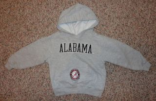NCAA boys gray hoodie sweatshirt ALABAMA CRIMSON TIDE sz 3T