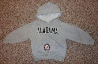 NCAA boys gray hoodie sweatshirt ALABAMA CRIMSON TIDE sz 3T