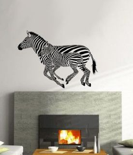 large size ZEBRA art decal wall vinyl sticker home animal decor #1