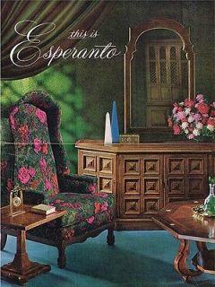 Spanish Mediterranean Style Furniture Brochure 1960s Vintage