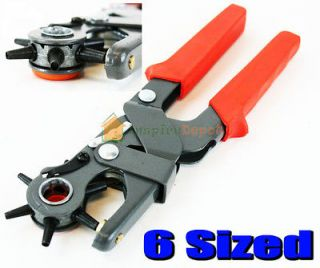 Heavy Duty Leather Hole Punch Hand Pliers Belt Holes Punches