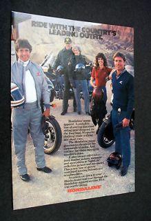 HONDA Hondaline motorcycle apparel 1985 print Ad