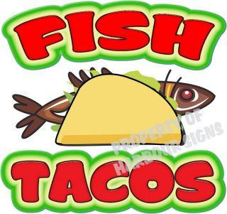 Fish Tacos Decal 14 Taco Restaurant Concession Food Truck Mobile