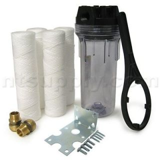 DIY Whole House Filter Kit   10 Sediment Filter w/ 3/4