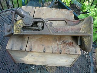 Vintage Simplex 85 Railroad Barn House 5 ton Jack Not 85A INV1074