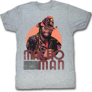 Macho Man Randy Savage Mackin and Smackin Grey T shirt