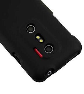 NEW SLIM BLACK HARD CASE COVER SKIN for HTC EVO 3D 3VO Sprint