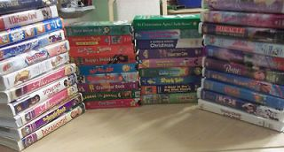 Lot of 40 Childrens Family VHS Videos Disney pbs kids & more video
