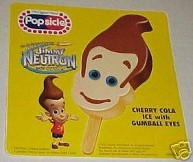 POPSICLE GOOD HUMOR ICE CREAM STICKER JIMMY NEUTRON