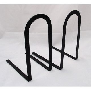 Mat Black Arched Simple Metal Bookends Book Ends Pair 7.5