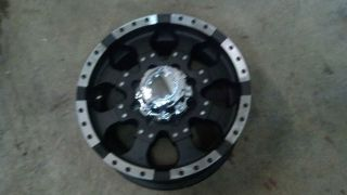 17 Ultra Goliath 8 lug Chevy Truck Wheel Rim 8x6.5 Black Machined