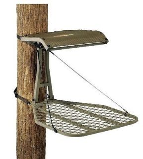 M25 Steel Hang On Treestand Bow Gun & Full Body Safety Harness