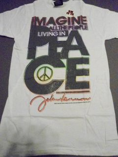 JOHN LENNON Imagine T Shirt *NEW music band concert tour Slim Fit