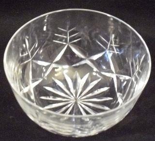 CORBETT CUT GLASS CRYSTAL FINGER, ICE CREAM OR FRUIT BOWL – MINT