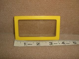 Vintage Barbie Doll A Frame Dream House Parts 1 Yellow WINDOW 3 1/2 x