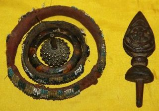 Amazing Set Antique Tibetan Buddhist Ritual Ring Dorje