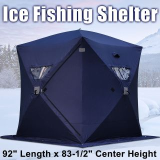 Portable Ice Fishing Shelter 2 3 4 Man Person Fish Shanty House Tent