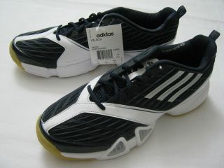 New Womens Adidas VOLLEIO Indoor Court Volleyball Shoes, Dark Blue Non