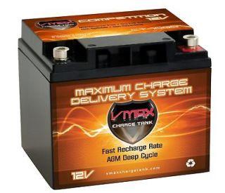 VMAX1000 12V AGM DEEP CYCLE BATTERY IDEAL FOR 24  40LB TROLLING MOTOR