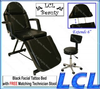 Stationary Facial Massage Table Bed Chair Tattoo Beauty Barber Salon
