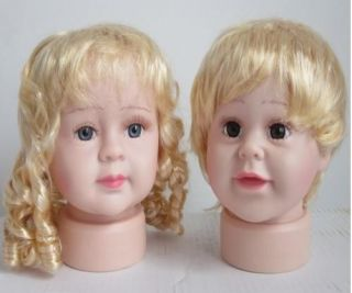 Child Kid Boy or Girl Mannequin Manikin Head for Store Display cap