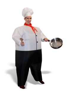 Blow Up Inflatable Inflated Fat Chubby Chef Halloween Adult Air Blower