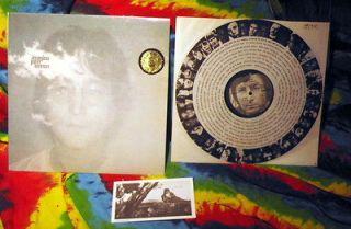 BEATLES JOHN LENNON IMAGINE ORIGINAL LP POSTER RARE POST YOKO TOPLESS