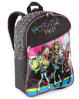 MONSTER HIGH BACKPACK & LUNCH BOX TOTE INSULATED WITH CARRY HANDLE