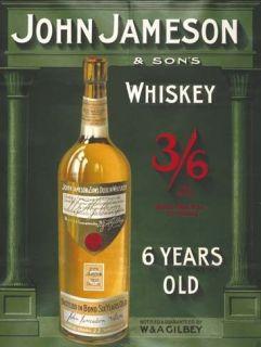 John Jameson Irish Whiskey, Bar, Club, Pub, Restaurant, Small Metal