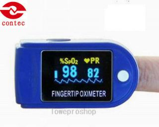 NEW FDA CE Fingertip Pulse Oximeter Blood Oxygen Monitor Case CMS 50D