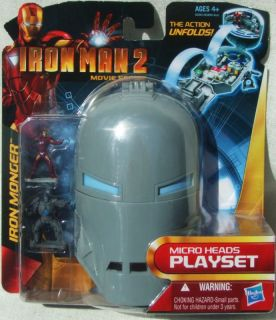 IRON MAN MICRO PLAYSET IN IRON MONGER HELMET! AGE 4+!
