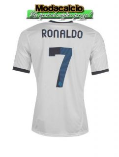 Jersey Shirt Adidas Real Madrid tg Ronaldo 7 patch LFP White 2012  13