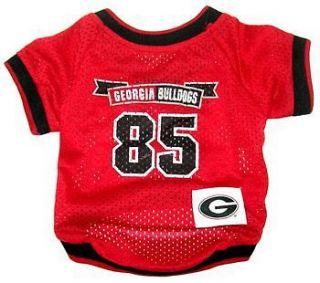 Georgia Bulldogs NCAA Pet Dog Jersey Shirt (sizes)