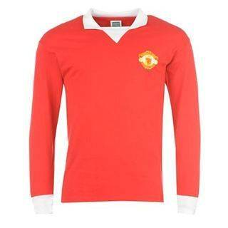 Manchester United Retro Long Sleeve Jersey Shirt 1973   S XXL Man Utd