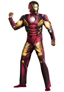 Iron Man Mark VII   Adult Muscle Suit Costume   2 Piece Helmet