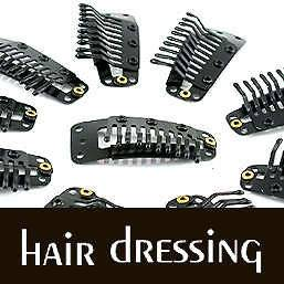 10 x Black SNAP CLIPS MAKING CLIP IN/ON HAIR EXTENSION